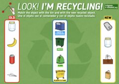 Ficha interactiva Look! I'm recycling!