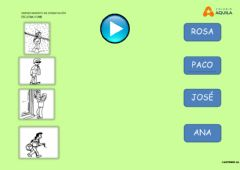 Interactive worksheet Escucha y une