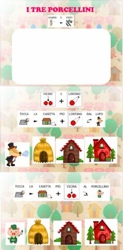 Interactive worksheet I tre porcellini - VICINO e LONTANO in CAA