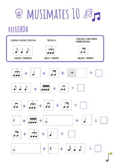 Interactive worksheet Musimates cast 10