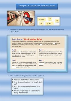 Interactive worksheet Transport in London (Get Culture)
