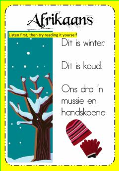 Ficha interactiva Week 16 - Thursday - Afrikaans