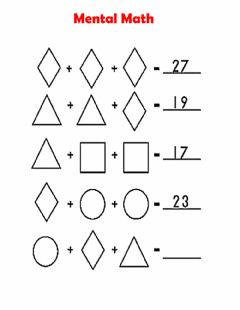 Interactive worksheet Mental math
