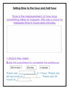 Interactive worksheet Review time