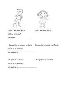 Interactive worksheet Me llamo