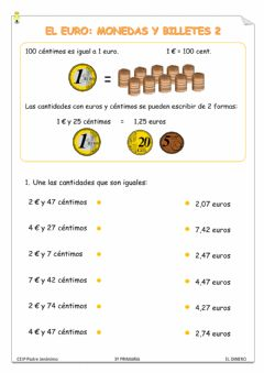 Interactive worksheet Las monedas 2