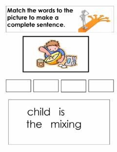 Interactive worksheet Sentence formation