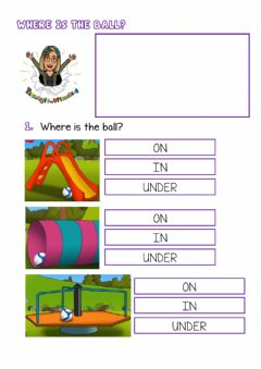 Ficha interactiva Toys and prepositions