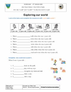 Interactive worksheet Exploring our world