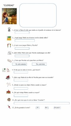 Interactive worksheet Corto Cuerdas