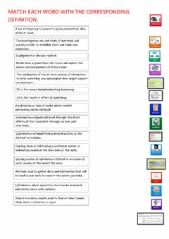 Interactive worksheet Match the definition with the corresponding picture