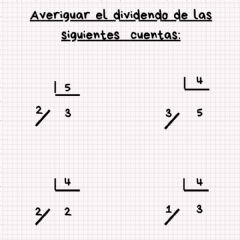 Interactive worksheet Averiguamos el dividendo