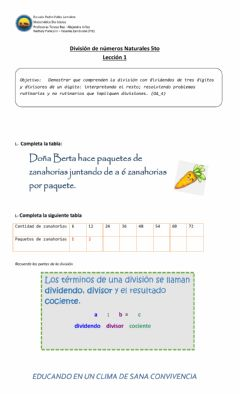 Interactive worksheet Divisiones 1