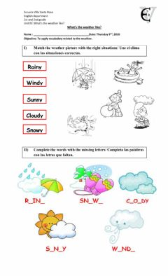 Interactive worksheet What's the weather like? 2