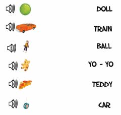 Interactive worksheet Toys - Listen and Match