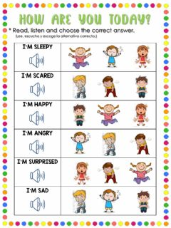 Interactive worksheet How are you today?
