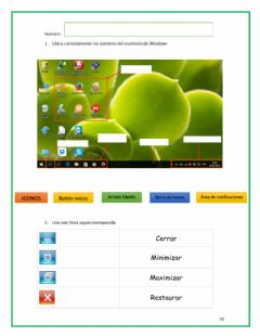 Interactive worksheet Escritorio de windows
