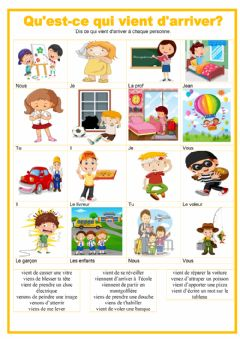 Interactive worksheet Le passe recent