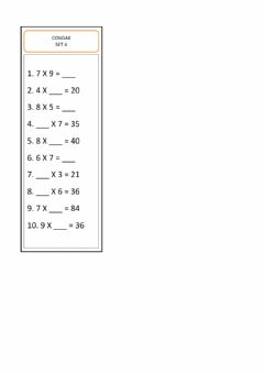 Interactive worksheet Congak set 4