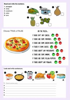 Interactive worksheet Food - Countable - Uncountable Nouns