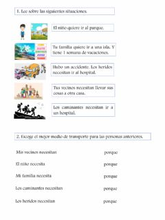 Interactive worksheet Qué Transporte Necesitan