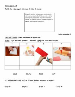 Interactive worksheet Moving paper cat - instructions