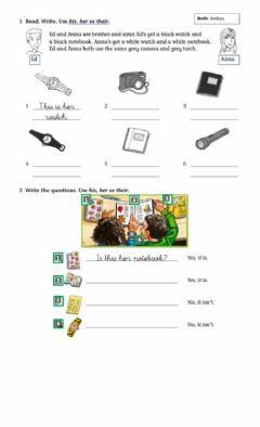 Interactive worksheet Worksheet 2 Possessive adjectives