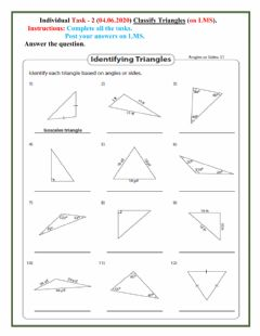 Interactive worksheet Triangle 2