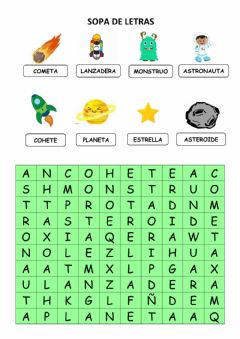 Interactive worksheet Sopa de letras espacio