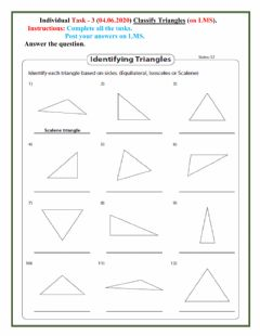 Interactive worksheet Triangle 3