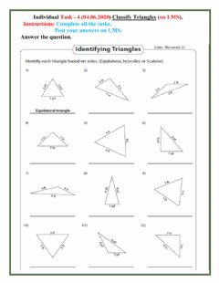 Interactive worksheet Triangle 4