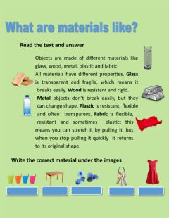 Interactive worksheet What are materials like?