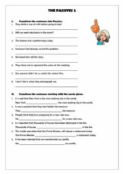 Interactive worksheet The Passives 2
