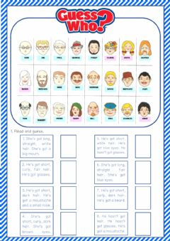 Interactive worksheet Guess who