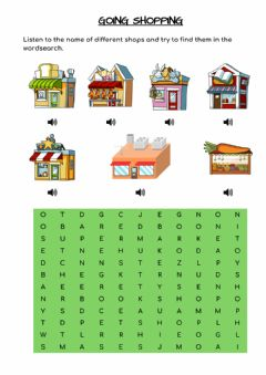 Interactive worksheet Going shopping