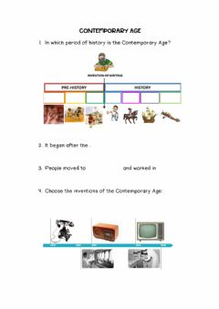 Interactive worksheet Contemporary Age