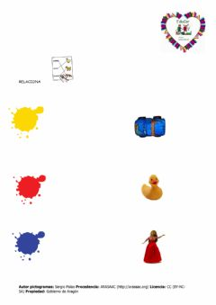 Interactive worksheet Unir colores