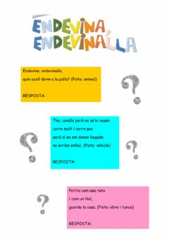 Interactive worksheet Endevinalles