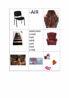 Ficha interactiva -air matching words and pictures