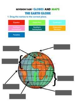 Interactive worksheet Globes and maps
