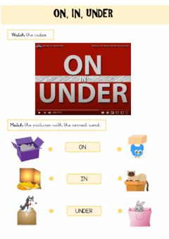 Ficha interactiva Prepositions: on, in, under
