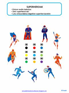 Interactive worksheet SUPERHEROIAK