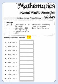 Interactive worksheet Week 16 - Friday - Mental Maths Strategy