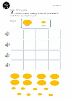 Interactive worksheet Sonidos fuertes y suaves