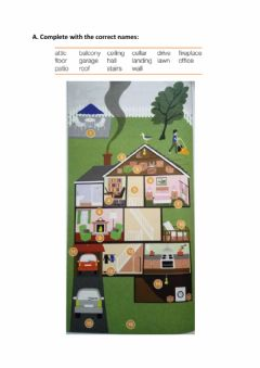 Ficha interactiva Vocabulary: parts of the house and furniture