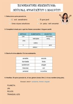 Interactive worksheet Repàs gramatical