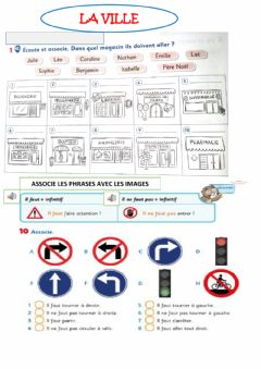 Interactive worksheet La ville