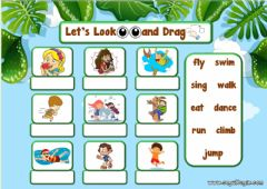 Ficha interactiva 2.10. Animals - Let's Look and Drag 3