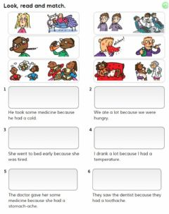 Interactive worksheet Read and match