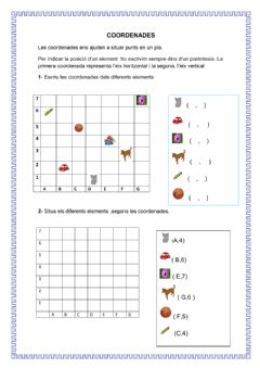 Interactive worksheet Coordenades